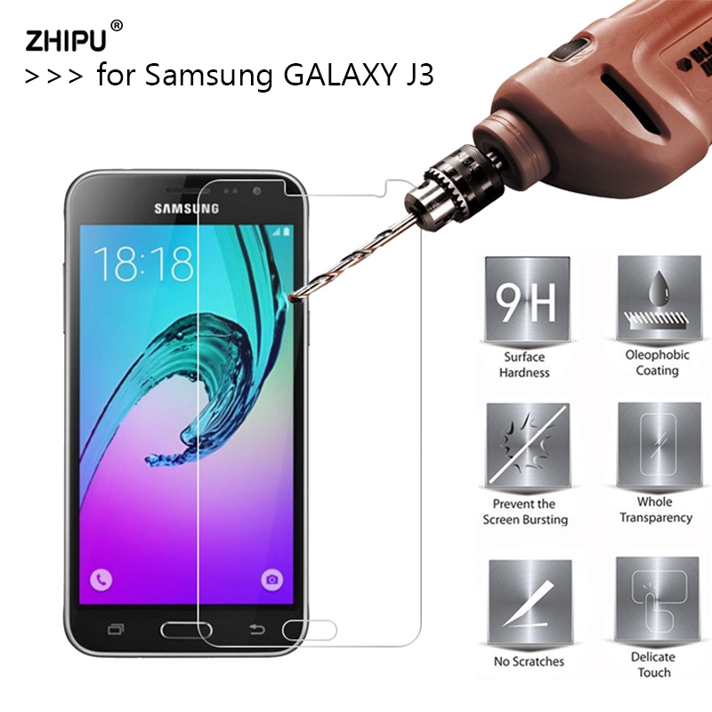2.5D 0.26mm 9H Premium Tempered Glass For Samsung GALAXY J3 J300 J3000 J300F Screen Protector Toughened protective film *