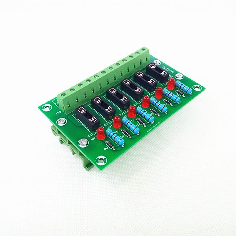 Fuse Module,6 Position Fuse Panel Mount Power Distribution  Module Board. vyb20w q24 s5 h power supplies board mount mr li