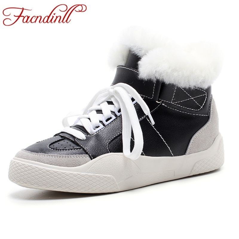 FACNDINLL top quality fashion women winter snow boots keep warm real fur genuine leather ankle boots casual short boots shoes fedonas top quality winter ankle boots women platform high heels genuine leather shoes woman warm plush snow motorcycle boots