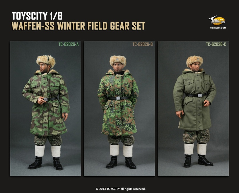 62026 1/6 Scale WWII  German Soldier Uniforms Winter Suit for 12 inches Action Figure Models Accessory фигурка planet of the apes action figure classic gorilla soldier 2 pack 18 см