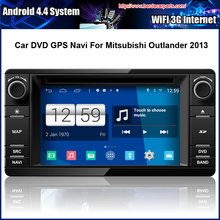 Android Car DVD Video Player for Mitsubishi Outlander 2012 2013 Multi-touch Capacitive screen,1024*600 high resolution.