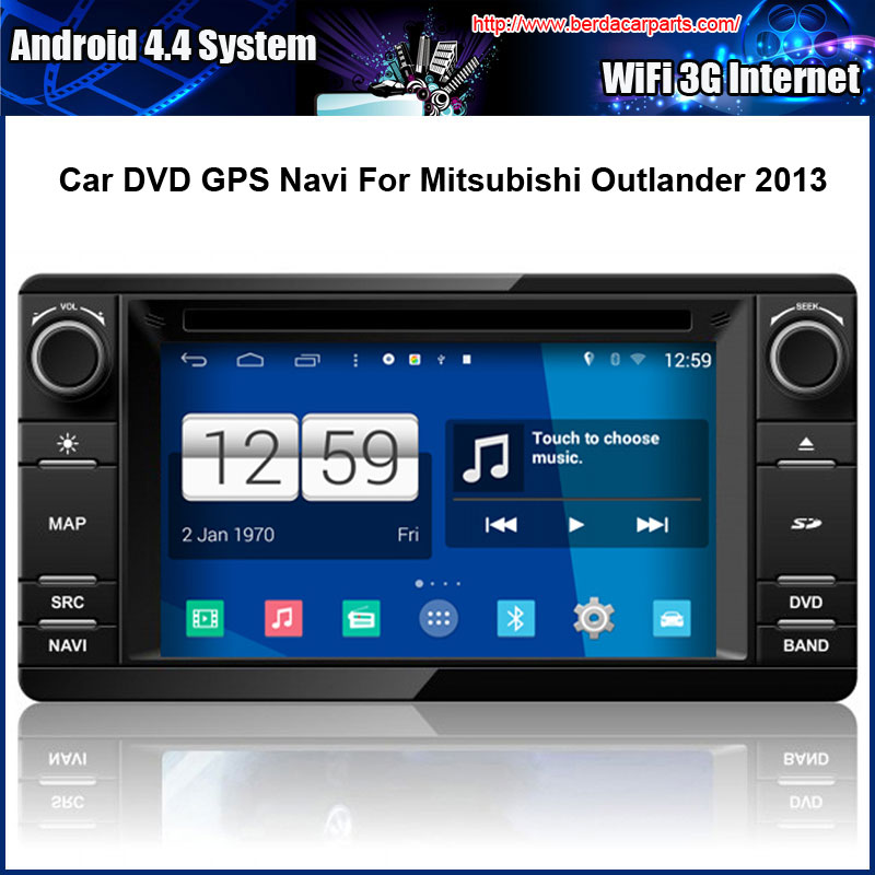 Android Car DVD Video Player for Mitsubishi Outlander 2012 2013 Multi touch Capacitive screen,1024*600 high resolution.
