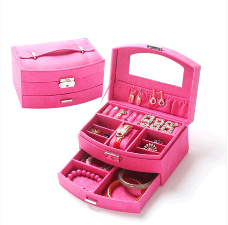 Jewelry Box For Cute Girls Jewelry Carrying Case Wholesale and