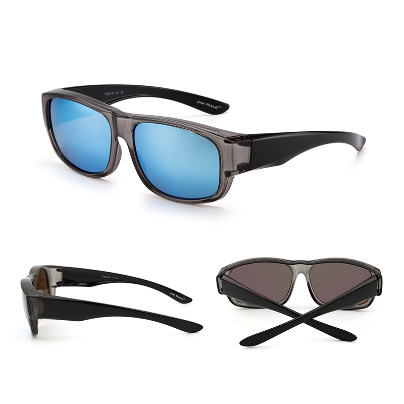 84a16e958be Jim Halo Polarized Fit Over Sunglasses Mirrored Oversize Wear Over Glasses  Men Women-in Sunglasses from Apparel Accessories on Aliexpress.com