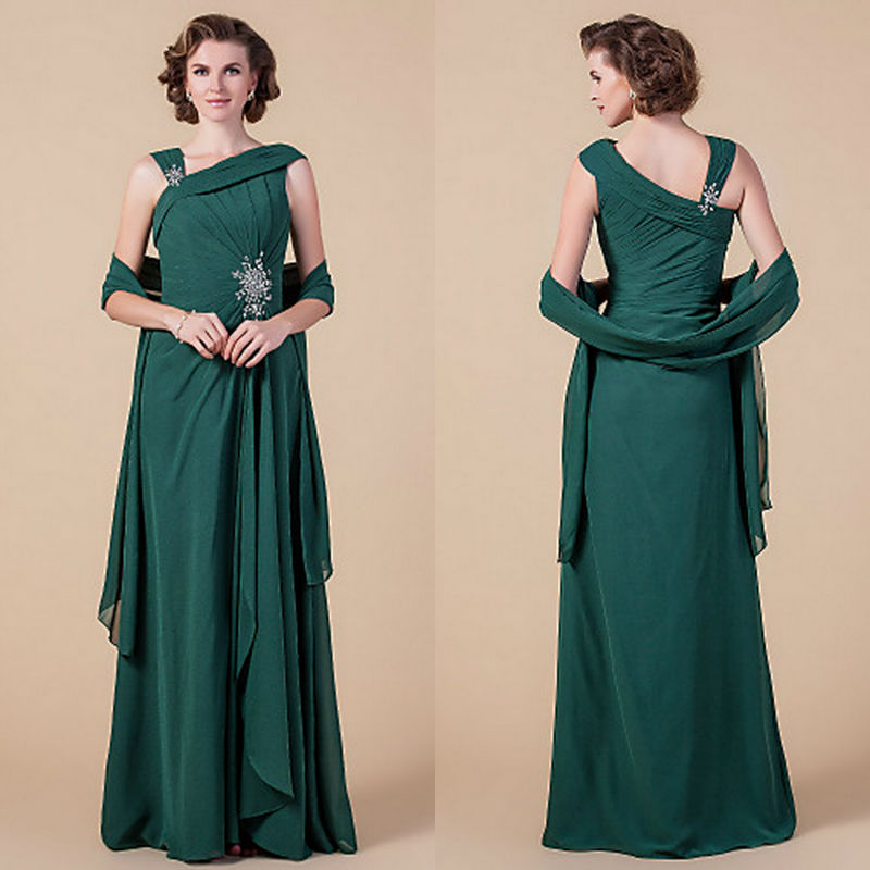 Plus Size Mother Of Bride Dresses Women Gown Emerald Green A Line