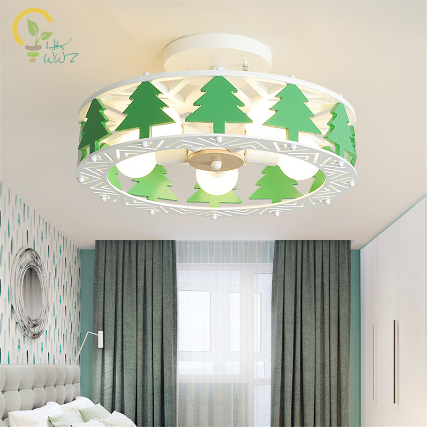 Ceiling Lights & Fans Lights & Lighting The Cheapest Price Christmas Tree Ceiling Lights Childrens Room Lighting Led Ceiling Lamps For Boys And Girls Bedroom Lamp Creative Cartoon Lamp