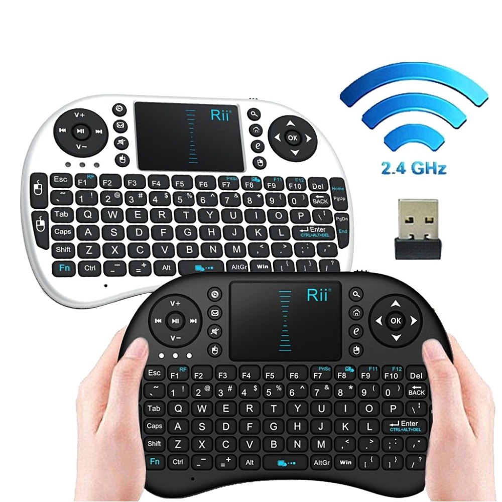 i8 Mini 2.4Ghz Wireless Touchpad Keyboard Mouse 92 Keys 360-Degree Flip 14.5x9.8x1.1cm For PC Pad Android TV Box Smart TV