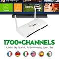 Mais barato Caixa de IPTV Box RK3128 1700 + Sky France Canal Europeu Esportes Pacote de Canais de IPTV Suécia Netherland Ligtv Turco Espanhol