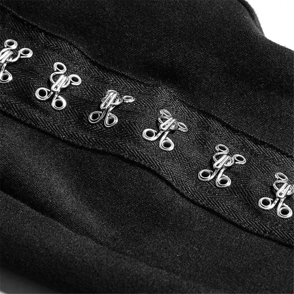 PUNK RAVE Steampunk gothique femmes PU cuir pantalon évider noir Sexy pantalon Club fête femmes à lacets Skinny pantalon - 6