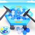 2017 brinquedo Divertido Quebra Gelo Salvar O Jogo Do Pinguim Crianças Desktop Pinguim Bater Brinquedo Bloco de Gelo Primeiros Brinquedos Educativos para crianças