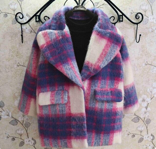 ילדים באיכות גבוהה צמר מעילי עבור בנות סתיו חורף ילדים עבה צמר Jaclets פעוט תינוקת הלבשה עליונה מעיל מסיבת מתנה