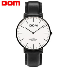 Watch men DOM Top Brand Luxury Quartz watch Casual quartz-watch leather Mesh strap ultra thin clock male Relog M-36BL-7M