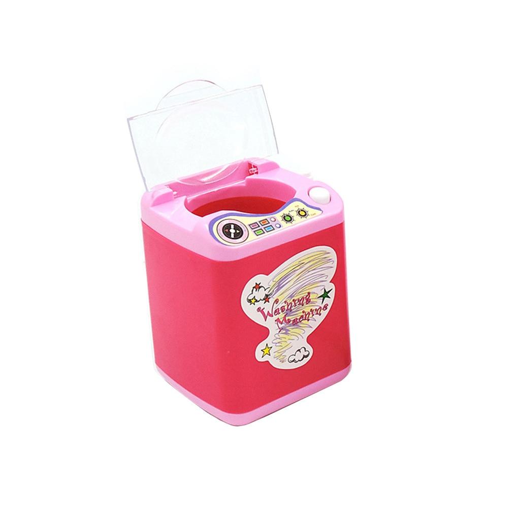 Audaz Los Niños Que Juego Maquillaje Cepillo Limpiador Dispositivo De Limpieza Automática Máquina De Lavado Juego Mini Diy Juguete Mp #