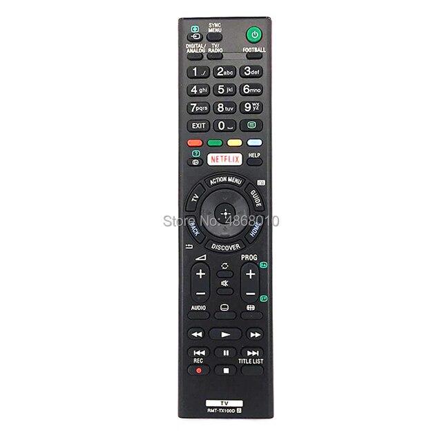 Universal Replacement RMT TX100D Remote Control For SONY TV KDL 55W756C KDL 55W805C KDL 55W807C NETFLIX Controle Fernbedienung