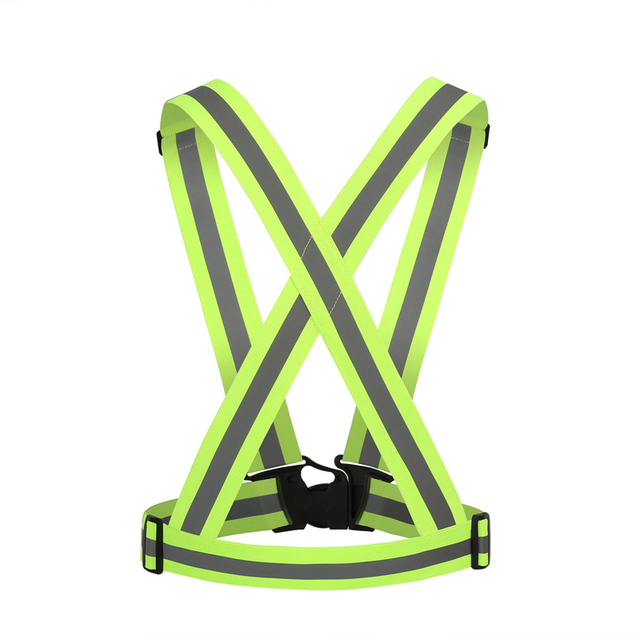 Unisex Cycling Safety Vest Reflective Visibility Night Riding Running Jogging Protective Stripe for Adult Children