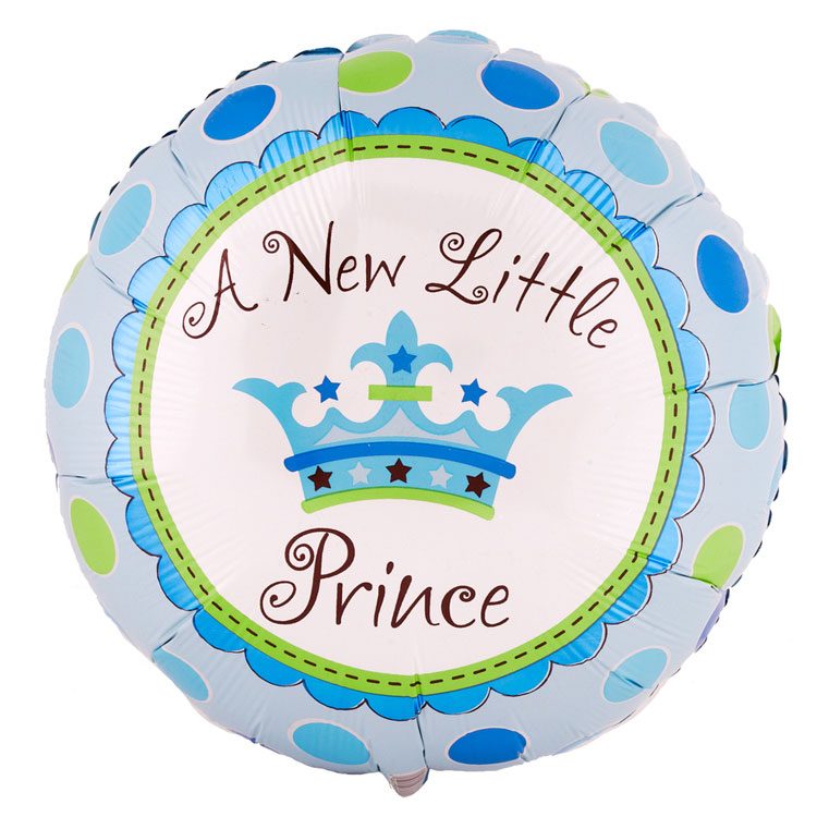 A New Little Prince Crown Shaped 18 Mylar Balloon