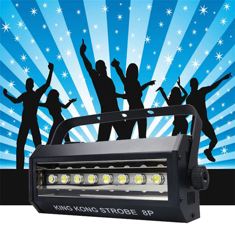 High Brightness King Kong 8P Strobe 200W LED Strobe DMX Sound Control DJ Disco Bar Party Show Stage Lighting LED Projector