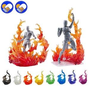 Image 1 - Tamashii figura de acción de Kamen Rider Figma, modelo de efecto de impacto de llama, SHF, escenas de fuego, juguetes de acción de efecto especial, accesorios