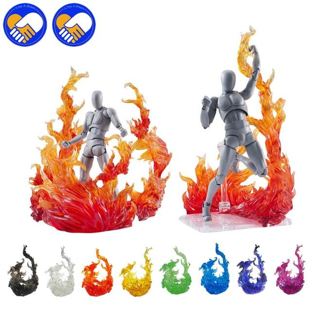 Tamashii figura de acción de Kamen Rider Figma, modelo de efecto de impacto de llama, SHF, escenas de fuego, juguetes de acción de efecto especial, accesorios