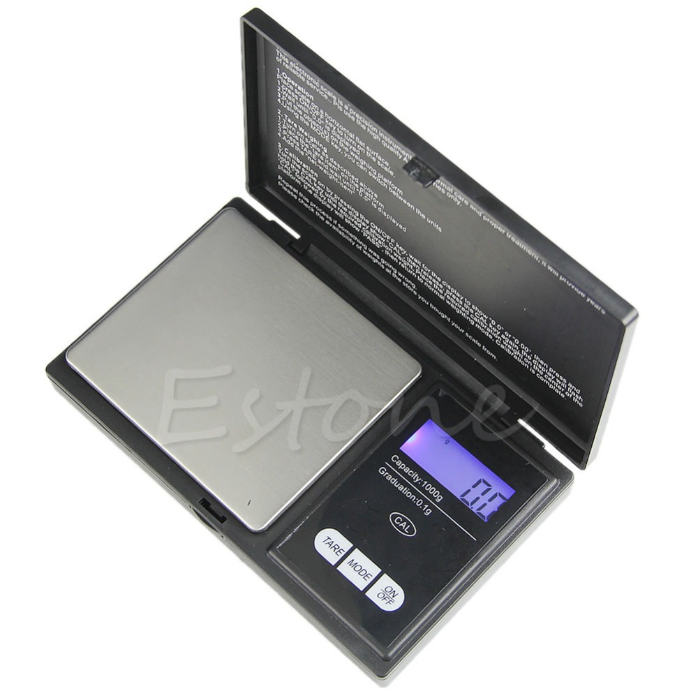 New 1000g * 0.1g LCD Digital Pocket Scale Jewelry Gold Gram Balance Weight Scale -Y103