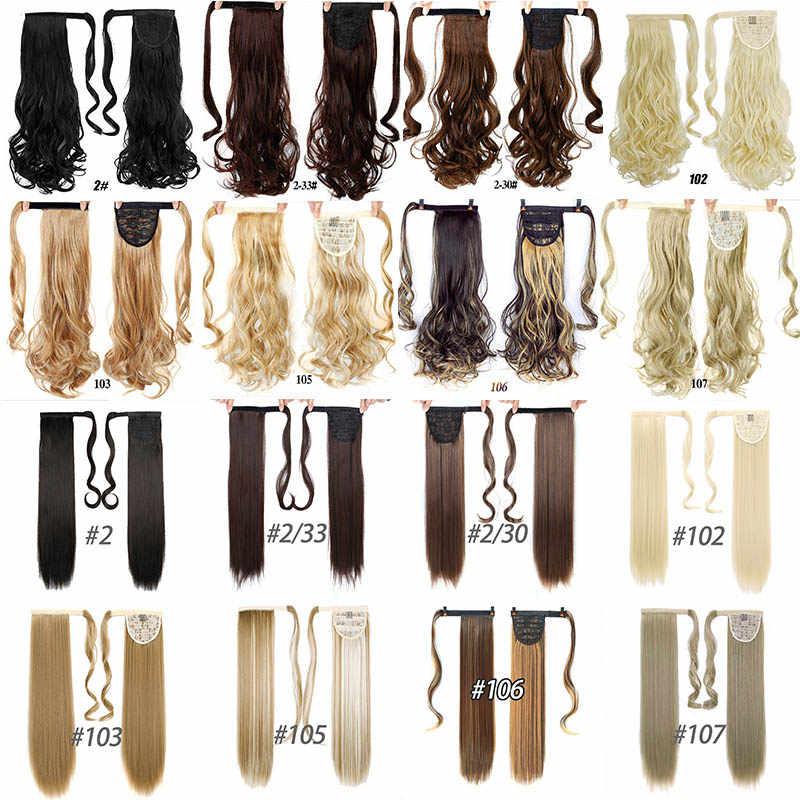 Pinza de pelo rizado largo DIFEI, cola de caballo, cola de caballo, peluca con horquillas, extensión de pelo sintético, cola de Pony