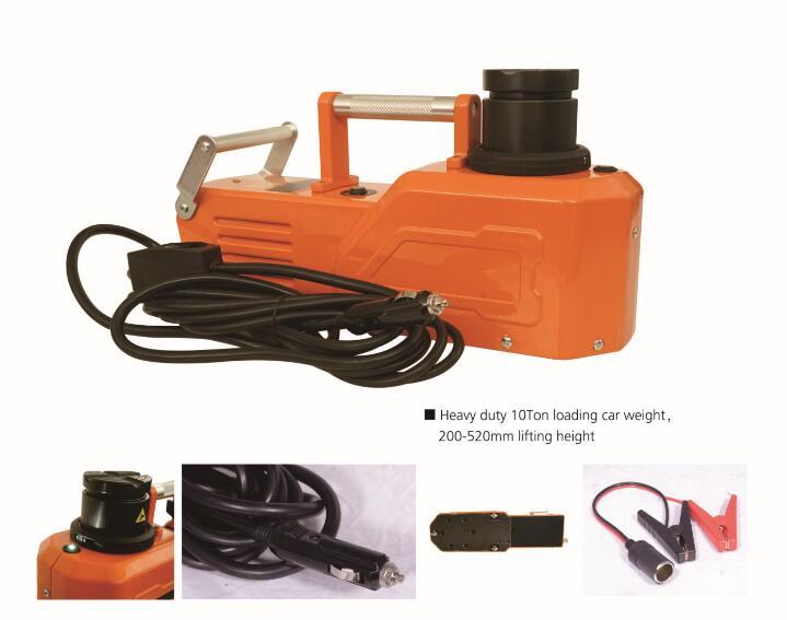 KUNFINE 12V 10Ton Car Electric Tire Lifting Car Jacks Hydraulic Air Infatable Car Floor Jack