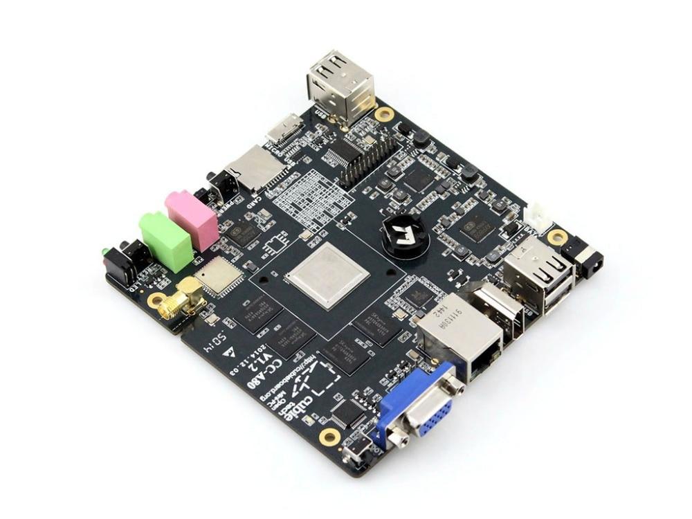 Cubieboard 4 CC-A80 Development Board 8GB eMMC Flash DDR3 2GB Octa-Core High-quality Cubieboard A80 with 5V/4A Power Adapter rq ax7102 a7 fpga development board artix 7 xc7a100t 2fgg484i with 8gb ddr3 128m flash jtag