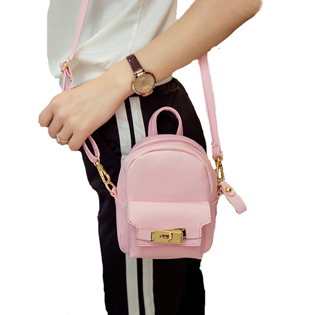 565aa6870fd2 Cute Korean Mini New Women Shoulder Bag Quality PU Leather Bag Mini  Backpack crossbody bags women's backpacks 977-in Backpacks from Luggage &  Bags