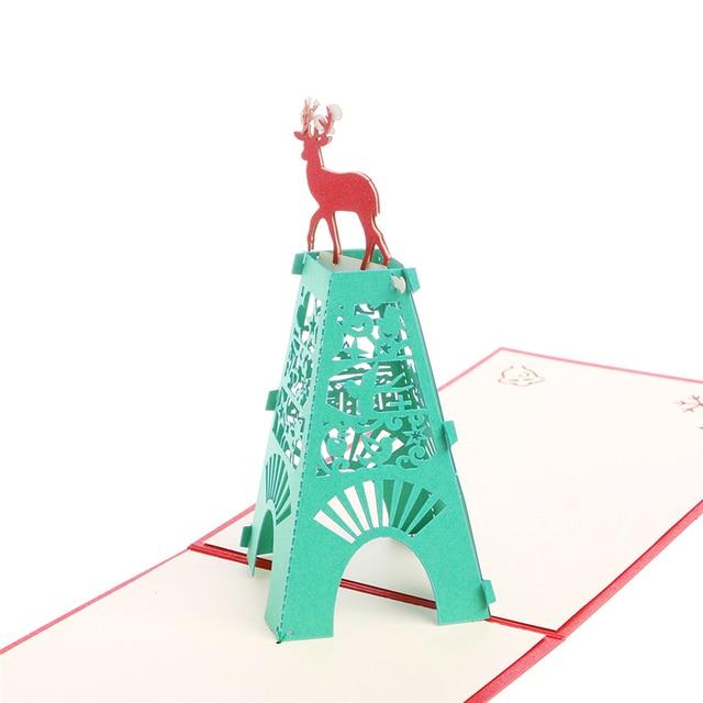3d pop up greeting card tower deer birthday christmas anniversary 3d pop up greeting card tower deer birthday christmas anniversary invitation filmwisefo