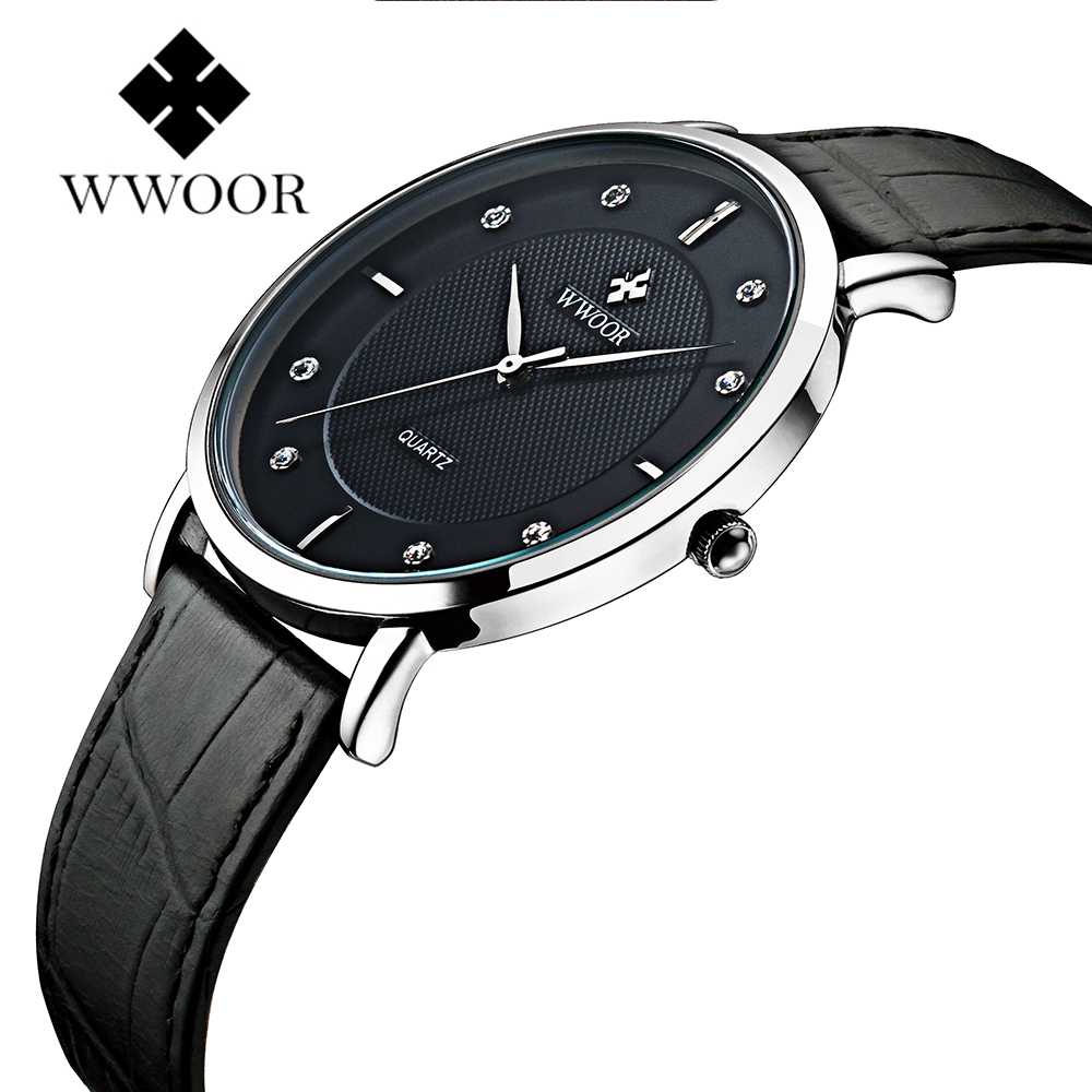 WWOOR Top Luxury Brand Men Watches Ultra Thin Stainless Steel Clock Male Quartz Sport Watch Men Waterproof Wristwatch relogio top brand luxury men waterproof stainless steel casual gold watch men s quartz clock male sports watches wwoor relogio masculino
