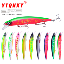 Купить с кэшбэком YTQHXY Wobbler Suspend Jerkbait Fishing Lure Best Quality hooks 14cm/18.3g Sinking Bass Pike Artificial Hard Bait Tackle YE-521