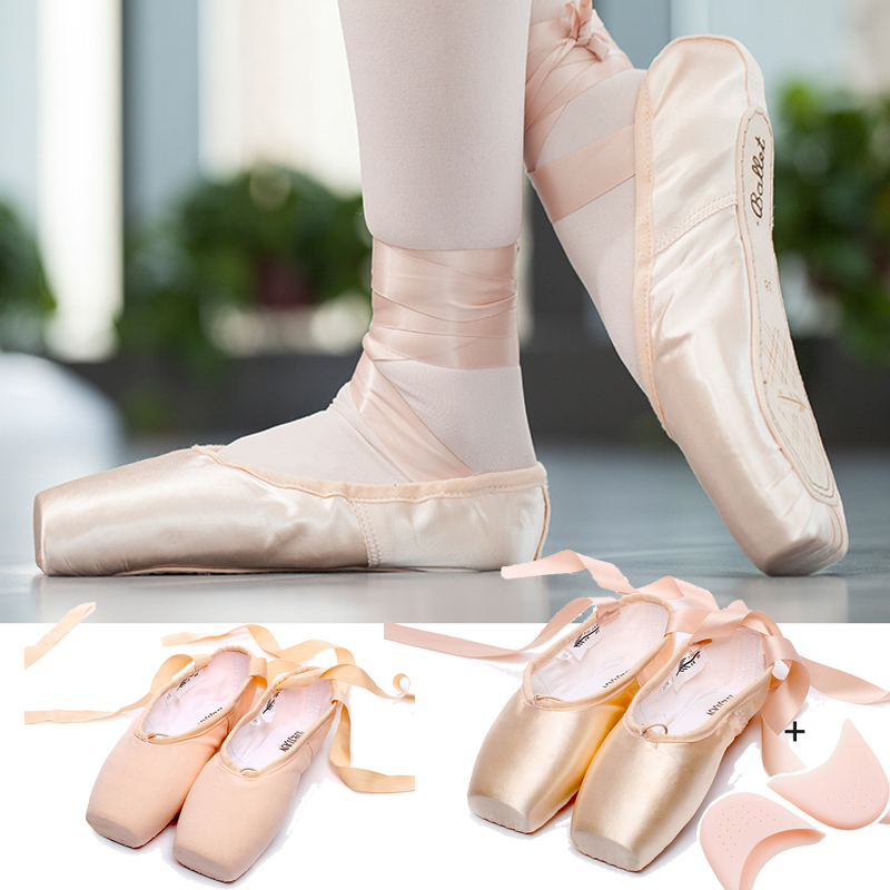Diligent New Satin Ballet Dance Pointe Toe Shoes Canvas Pointe Silk Ribbon Shoes Toe Pad Girls Pink Professional Ballet Shose For Ballet 100% Original