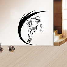 Free shipping Rugby player wall sticker Living room and bedroom background Removable home decor mural