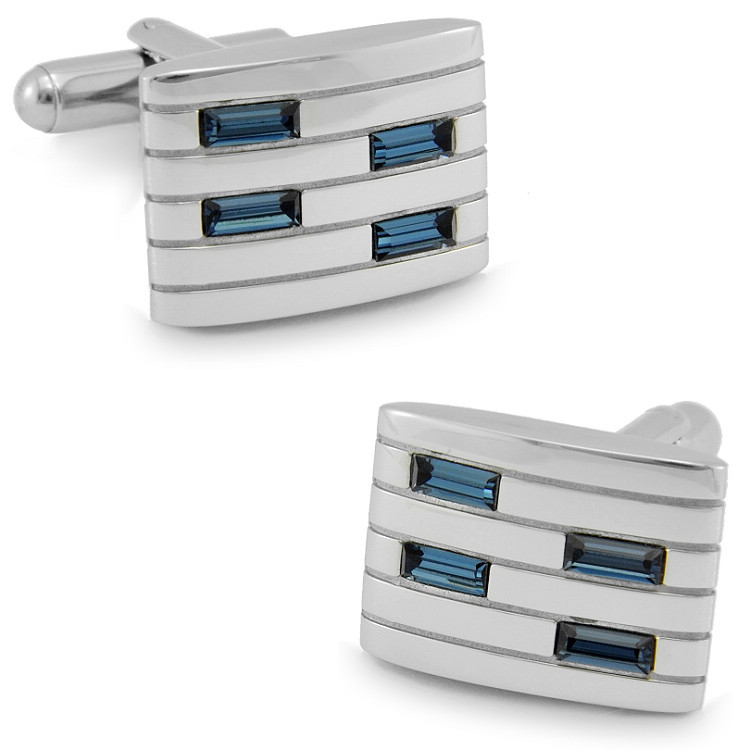 SPARTA Crystal + stainless steel cufflink men's Cuff Links + Free Shipping !!! metal buttons