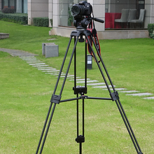 Miliboo MTT601A Профессиональный портативный алюминиевый видеокамера штатив для видео/DSLR камеры, с гидравлическим головой мяч