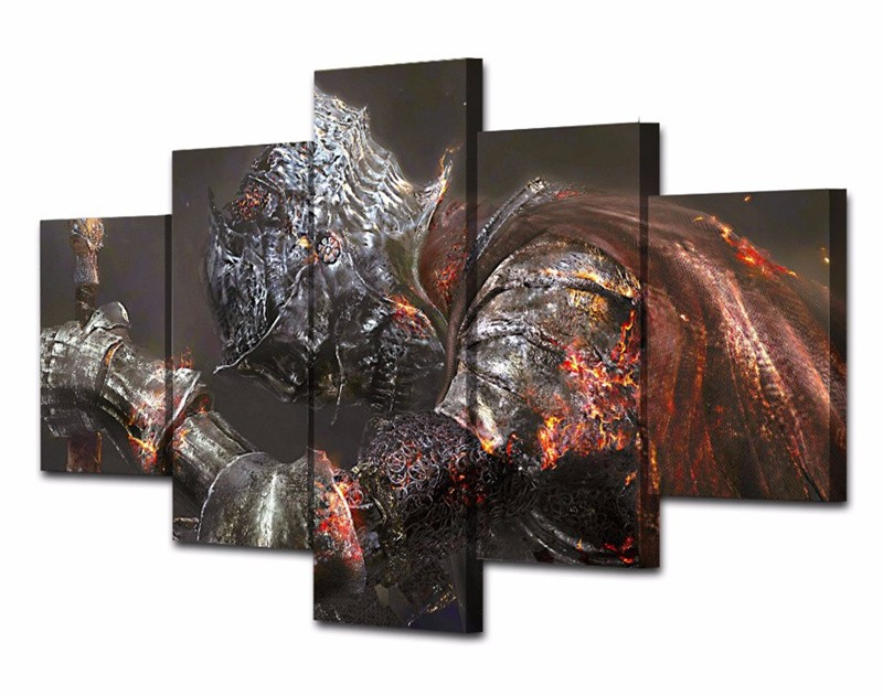 2017 Canvas Picture Dark Souls Game Warrior Movie Poster Print Paints Wall Painting Modern Picture For Living Rome Decoration