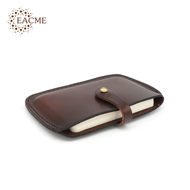 EACME Fine Leather Credit Card Case Holder Thin Hasp Business Card ...