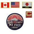 Personalizado grande americano remendo da bandeira do canadá eua japão mt fuji impressão imagem países patch iron on para calças de brim da roupa esporte estilo