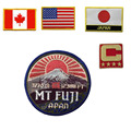 custom big american canada usa japan flag patch mt fuji printing picture countries patch iron on for clothing jeans sport style