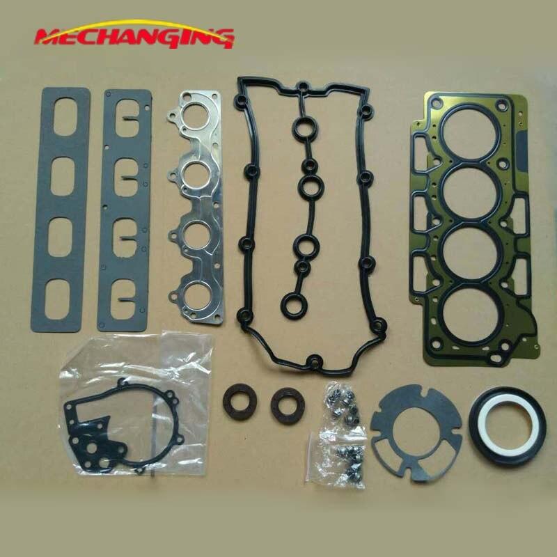 Chery a3 또는 a5 또는 tiggo 3 1.6l 엔진 가스켓 sqr481f 481 h 자동차 액세서리 풀 세트 엔진 재구성 키트 481h-1000aa