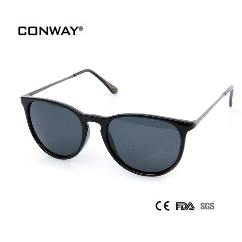 CONWAY 2017 Moda Polarizada Óculos De Sol Da Marca Designer Óculos de Sol  Mulheres Polaroid lentes Cinza Óculos de Proteção óculos de Sol RB4171  PC00301 fd346981cb