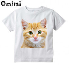 c9068ccf Cool 3D Cat Printed Children Casual T Shirt Boys and Girls Funny Tops Kids  Great T