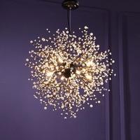 Vintage Hanging Lamp Loft Chandeliers LED Modern Crystal Firework Pendant Lighting Ceiling Light Fixtures for Resturant Foyer