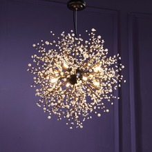 Lámpara colgante Vintage para Loft, candelabros LED de cristal moderno, iluminación colgante de fuegos artificiales, accesorios de iluminación de techo para vestíbulo de restaurante