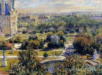 online art gallery The Tulleries Claude Monet Landscape paintings Hand painted High quality