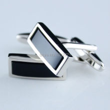 The new classic Black Onyx crystal fashion cufflinks cuff font b nails b font Business Gifts