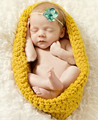 Crochet Baby Bowl Cocoon Photography Props Newborn Infant Sleeping Bags Handmade Knitted 0-3 months 1set H038