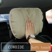Maybach S Class Car Headrest pillow for head Leather Comfortable Soft Cushion Covers Adjustable auto Pillow For Benz Accessories