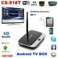 1080 P Bluetooth WiFi 2 Г/16 Г XBMC DLNA Miracast Airplay OTG Quad ядро ARM Cortex A7 CS-918T RK3128 Rockchip Android 4.4 ТВ коробка