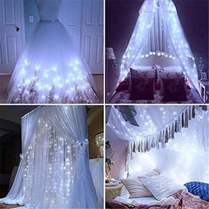 Image 2 - Guirnalda de luces LED de Navidad para boda guirnalda de luces LED para cortina, decoración de jardín, fiesta de cumpleaños, para exteriores, 3, 3 o 3x1M